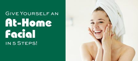 Give Yourself an At-Home Facial in 5 Steps and Image of Girl with Clear Skin in Towel