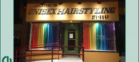 Junes Unisex Hairstyling and Skin Care Clinic exterior, photo credits to Junes Unisex Salon's Facebook Page