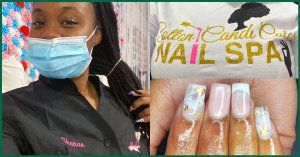 CV nail specialty alum, Shanae, as a licensed professional in her nail spa